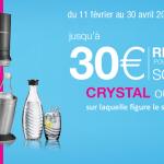 [Bon plan] Jusqu'à 30€ remboursés pour l'achat d'une Sodastream Crystal ou Spirit