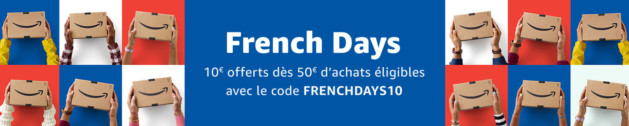French Days : 10€ offerts dès 50€ d'achats