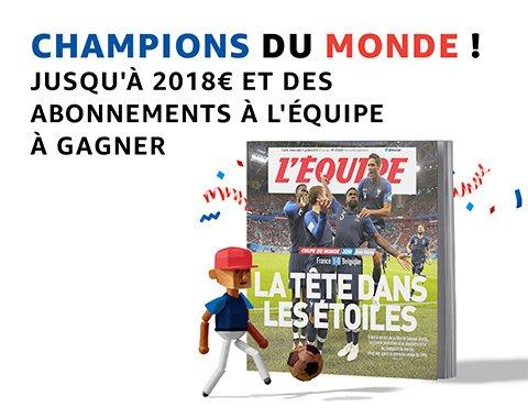 Amazon : concours Prime Day pour fêter la victoire de la France à la Coupe du Monde 2018