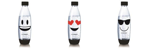 Tripack Emoji Sodastream Fuse (30000142) : smiley sourire, lunettes et coeur