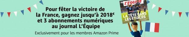 Concours Amazon Prime Day spécial victoire de la France