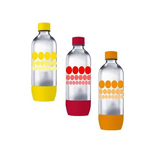 Lot de 3 bouteilles Sodastream bulles couleur