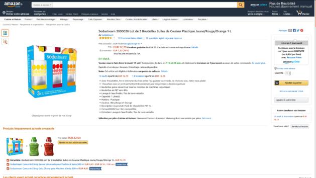Promotion : lot de 3 bouteilles Sodastream bulles couleur à 12€79 au lieu de 19€99