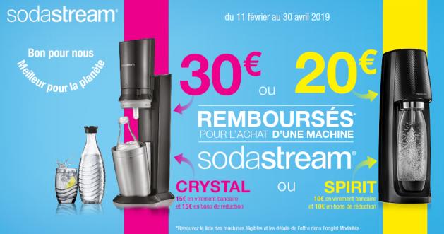 Offre Sodastream : Jusqu'à 30€ remboursés