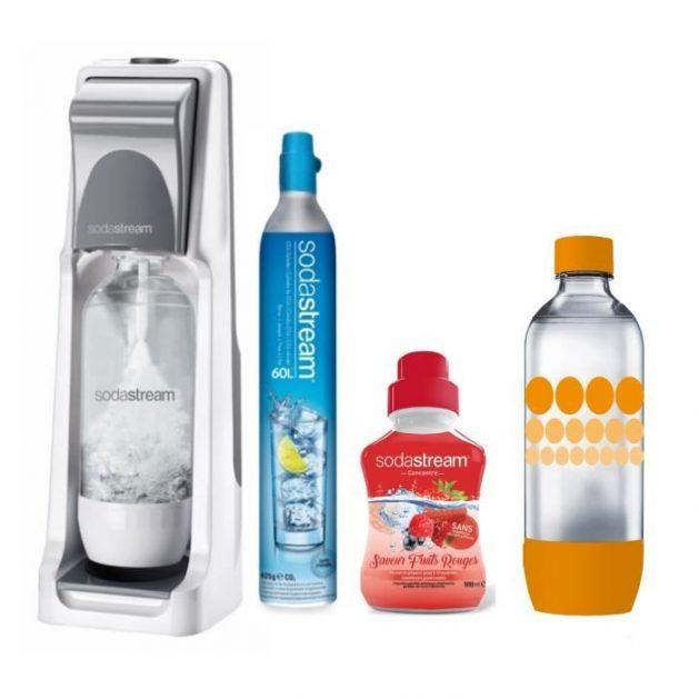 Pack Sodastream Cool Titan grise avec concentré et bouteille 1L