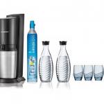 Promotion : pack Sodastream Crystal + 2 carafes + 4 verres à 159€