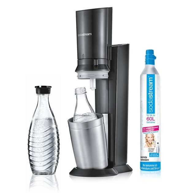 Sodastream Crystal noire ouverte