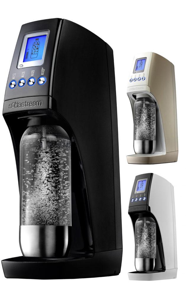Couleurs de la Sodastream Revolution : titan, champagne et noir